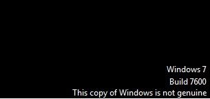bertuliskan windows 7 build 7600 this copy of windows is not genuine